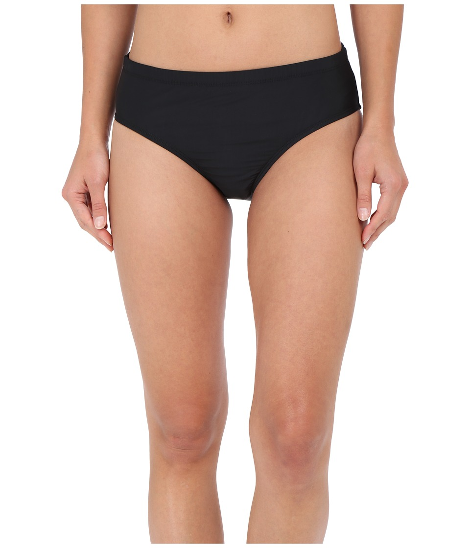 Athena Cabana Solids Mid Waist Pant Black Womens Swimwear