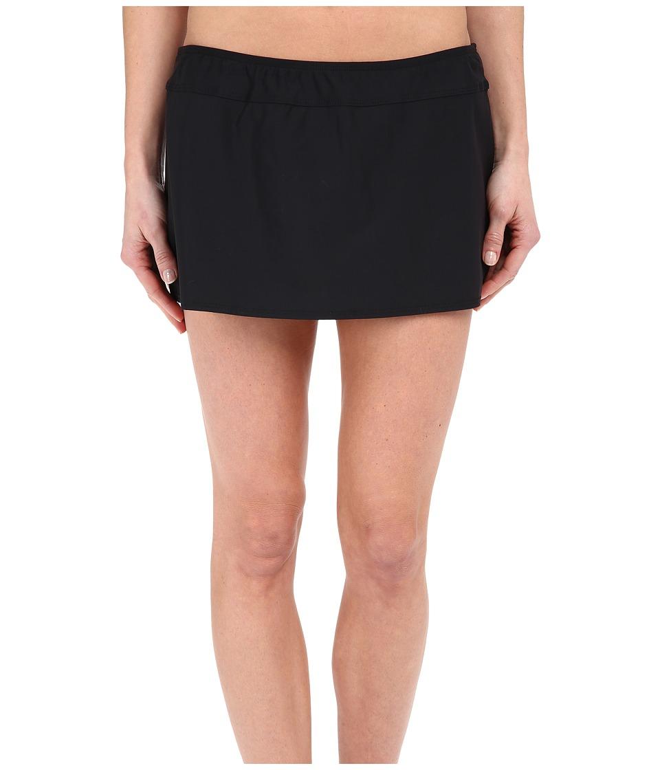 Athena Cabana Solids A Line Skirt Black Womens Swimwear