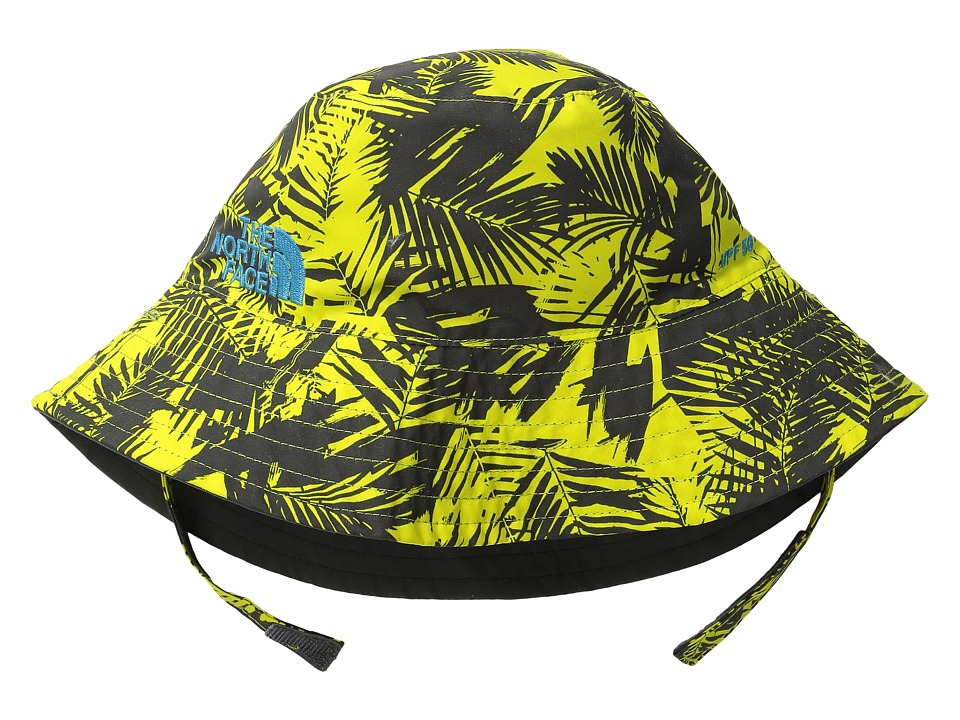 The North Face Kids Baby Sun Bucket 13 Infant Sulphur Spring Green Palm Print Bucket Caps