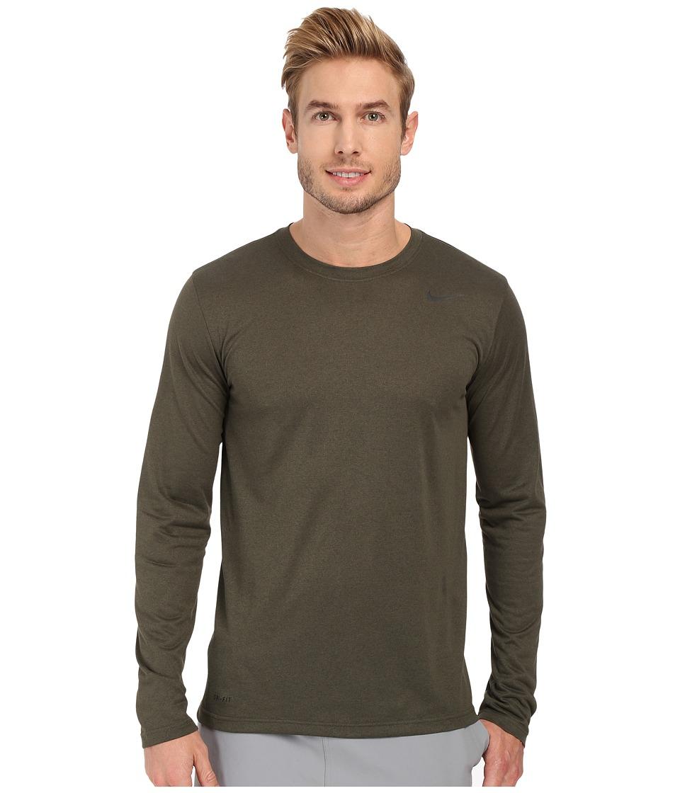Nike - Legend 2.0 Long Sleeve Tee (Cargo Khaki/Black/Black) Men