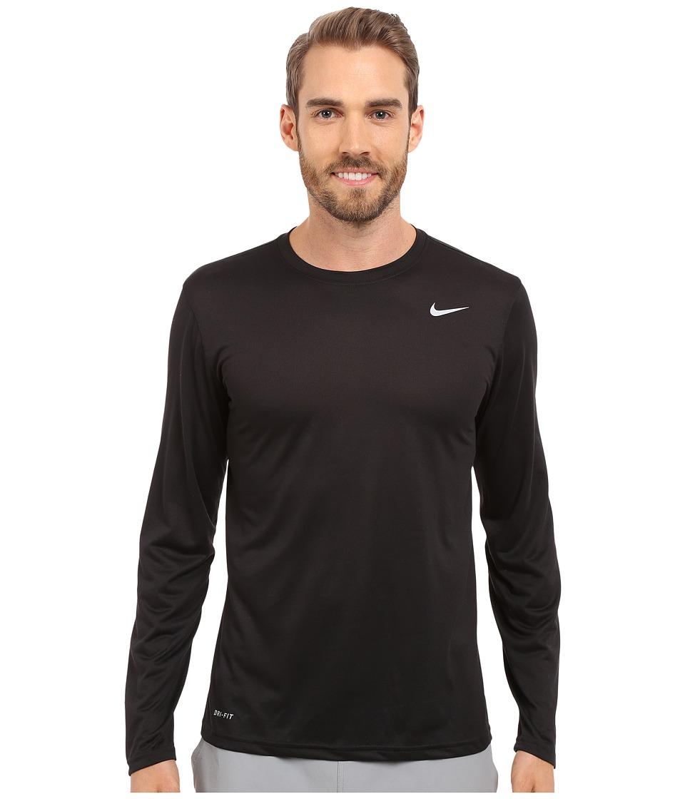 Nike - Legend 2.0 Long Sleeve Tee (Black/Black/Matte Silver) Men