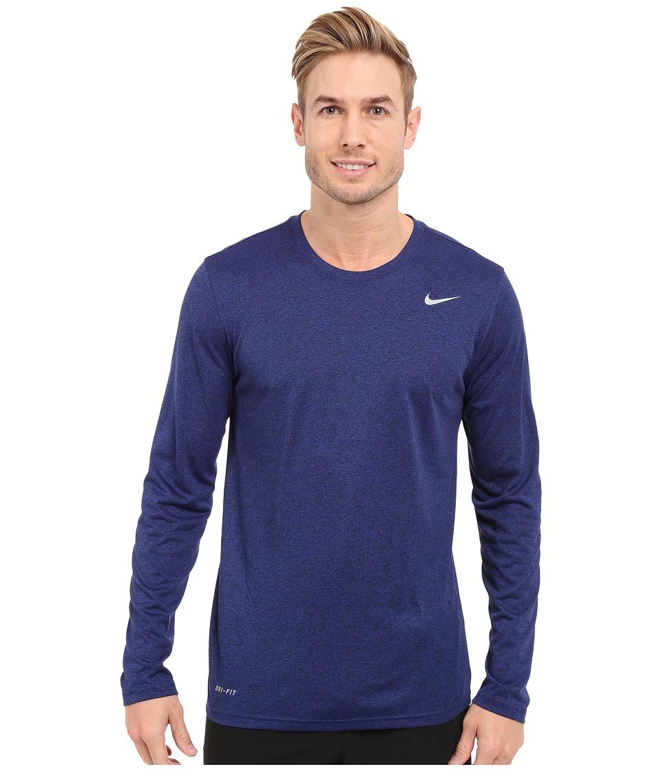 Nike - Legend 2.0 Long Sleeve Tee (Deep Royal Blue/Black/Black/Black) Men