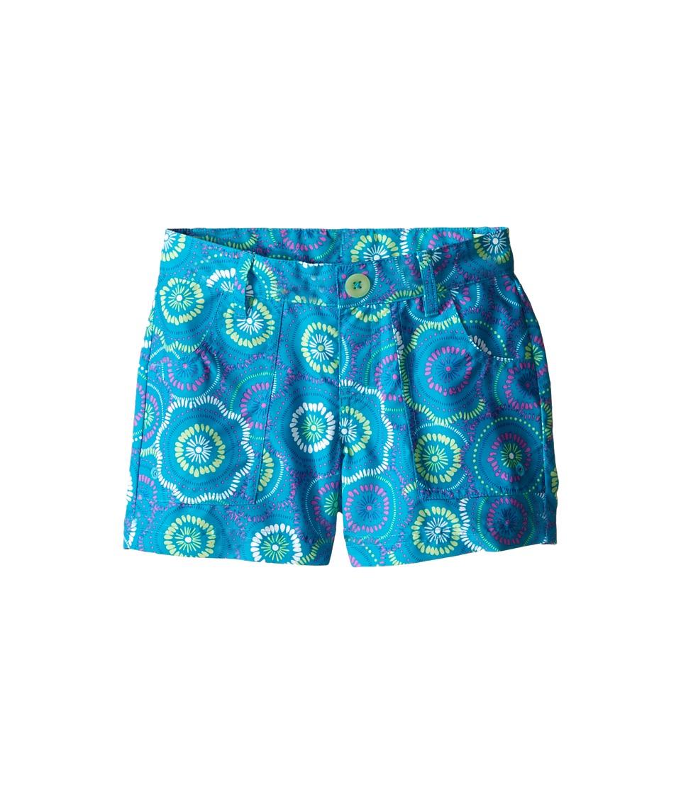 The North Face Kids Argali Hike/Water Shorts Little Kids/Big Kids Bluebird Sand Dollar Print Girls Shorts