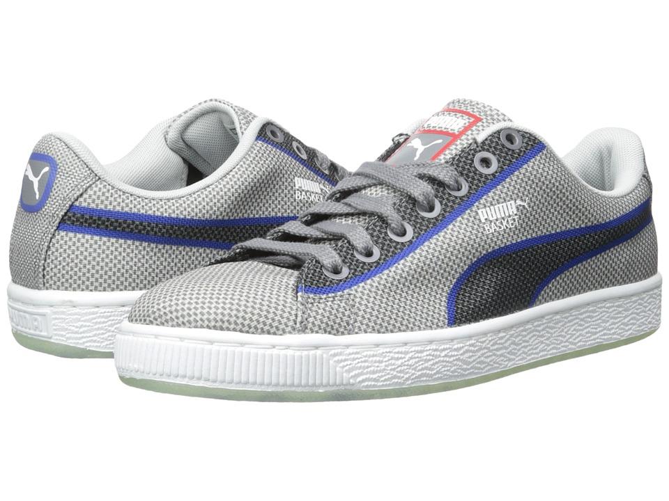 PUMA Basket Classic Woven Glacier Gray Mens Shoes