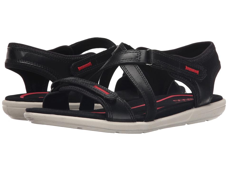 ECCO Bluma Strap Sandal Black Womens Sandals