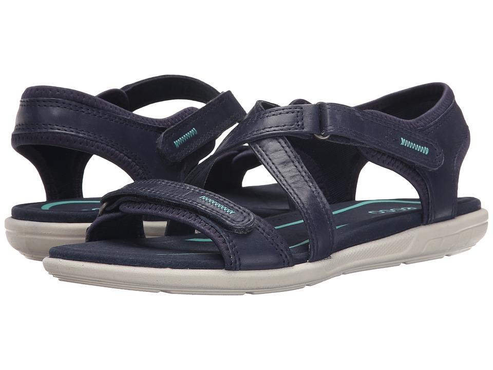 ECCO Bluma Strap Sandal Marine Womens Sandals