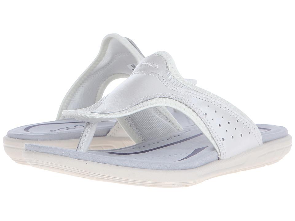 ECCO Bluma Thong White Womens Sandals
