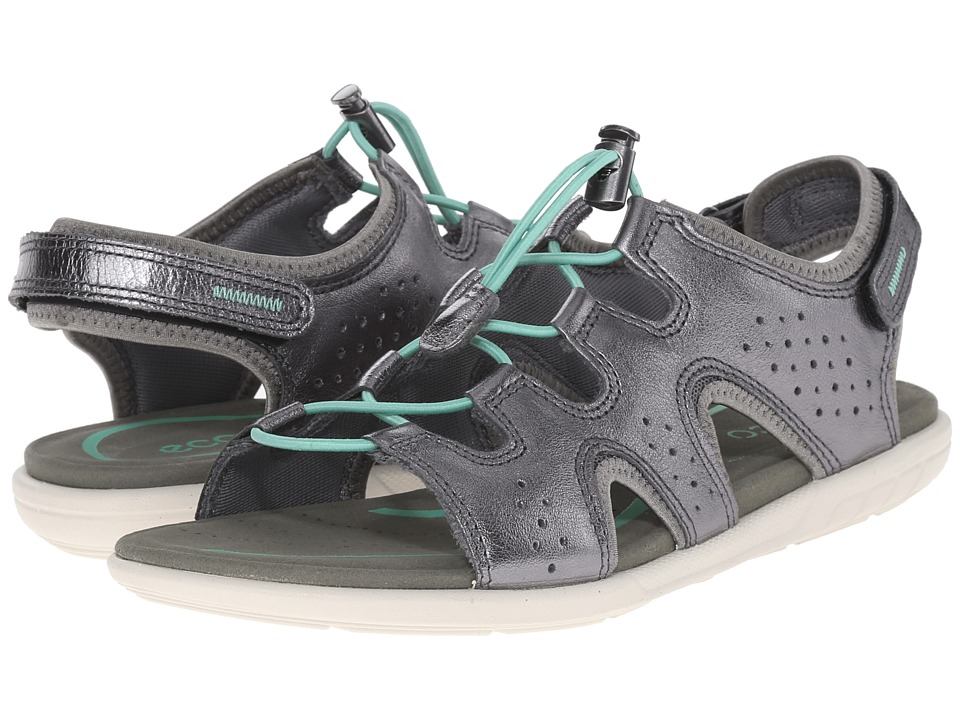 ECCO - Bluma Toggle Sandal (Dark Shadow Metallic) Women's Sandals