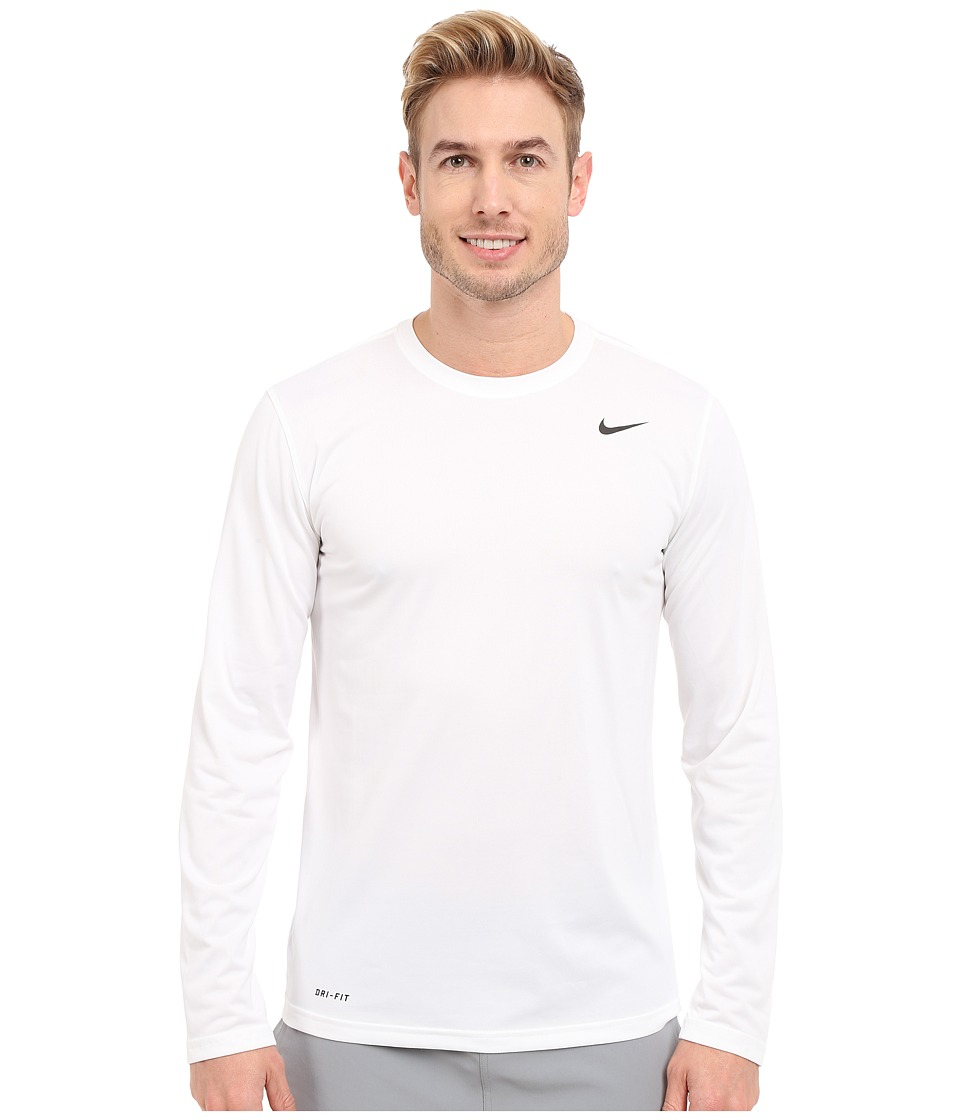 Nike Legend 2.0 Long Sleeve Tee (White/Black/Black) Men