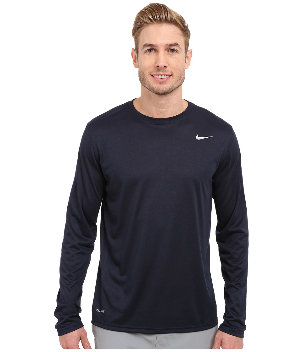 Nike Legend 2.0 Long Sleeve Tee (Obsidian/Metallic Silver) Men