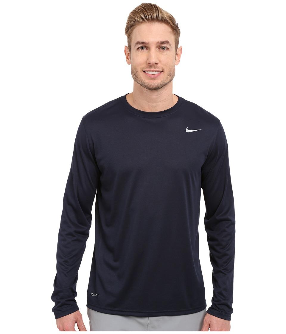 Nike - Legend 2.0 Long Sleeve Tee (Obsidian/Black/Black) Men