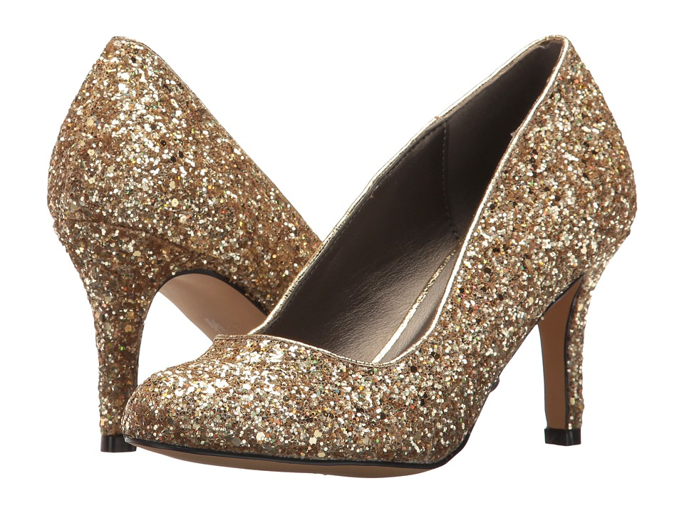 Michael Antonio Finnea Glitter Gold High Heels