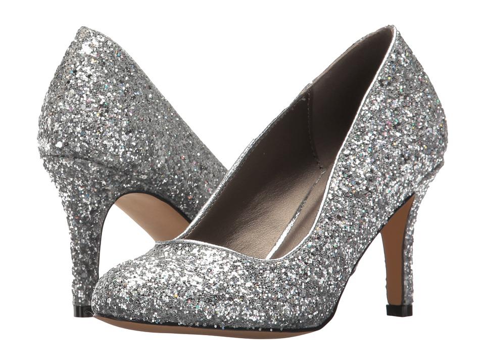 Michael Antonio Finnea Glitter Silver High Heels