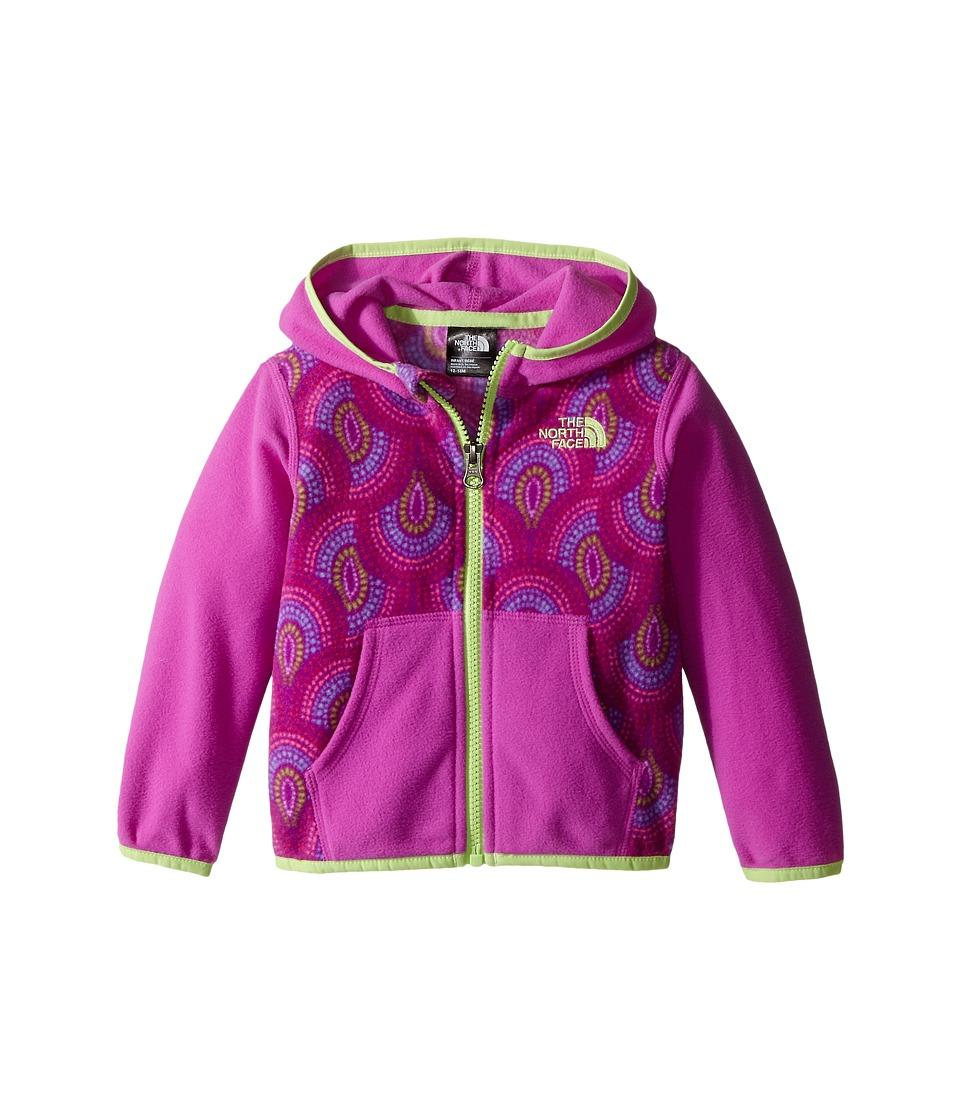 The North Face Kids Glacier Full Zip Hoodie Infant Sweet Violet Peacock Print Girls Sweatshirt