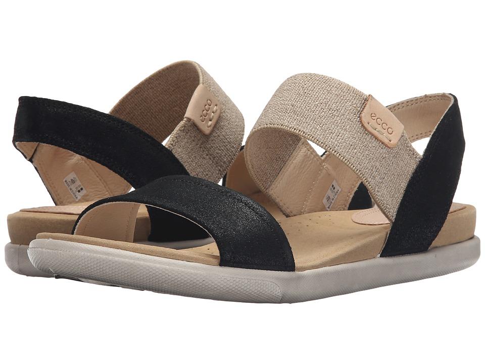 ECCO Damara Ankle Sandal Black Womens Sandals