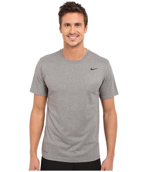 Nike Legend 2.0 Short Sleeve Tee - Carbon Heather/Black/Black