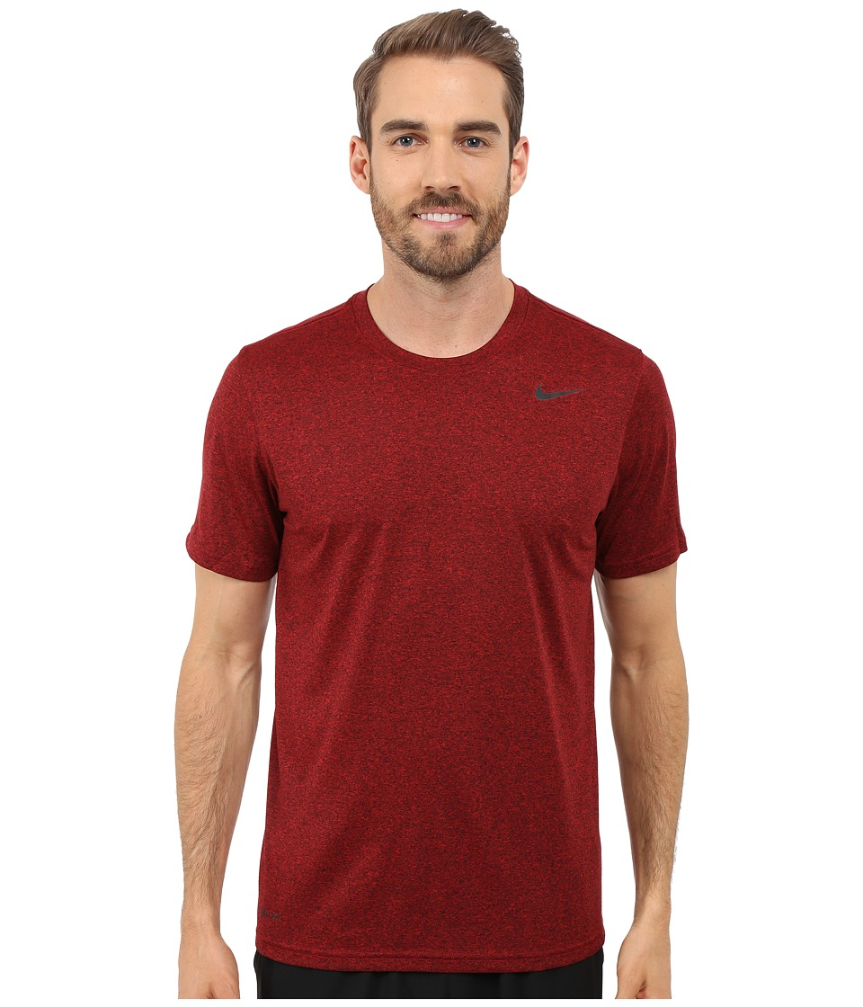 Nike Legend 2.0 Short Sleeve Tee (University Red/Black/Black/Black) Men