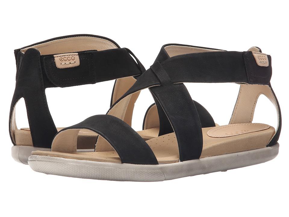 ECCO Damara Strap Sandal Black Womens Shoes
