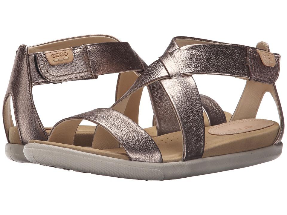 ECCO Damara Strap Sandal Warm Grey Metallic Womens Shoes