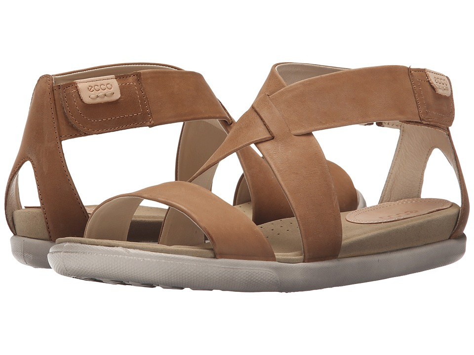 ECCO Damara Strap Sandal Camel Womens Shoes