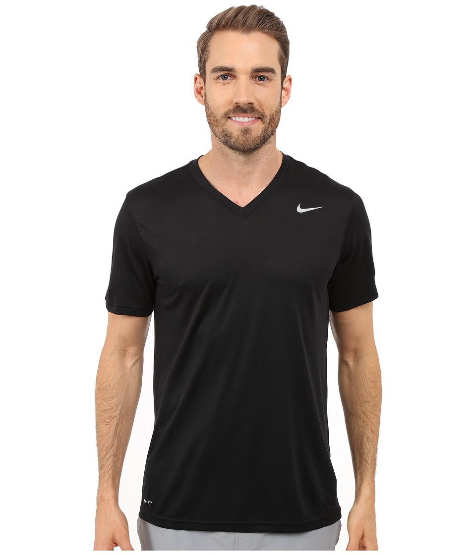 Nike Legend 2.0 Short Sleeve V-Neck Tee (Black/Black/Matte Silver) Men
