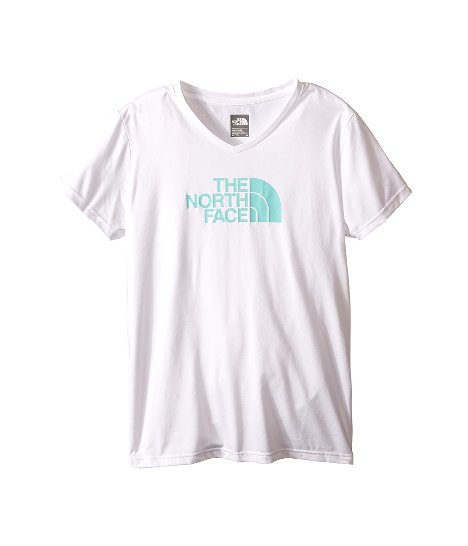 The North Face Kids Short Sleeve Reaxion Tee Little Kids/Big Kids TNF White Girls Short Sleeve Pullover