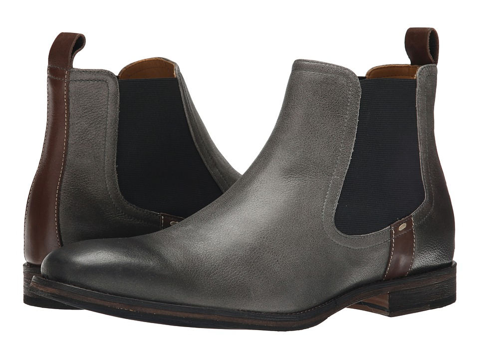 Ron White Anton Slate/Pretzel Antiqued Pebble Grain Calf Mens Boots