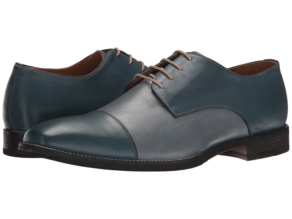 Ron White Adam Navy/Slate Burnished Calf Mens Shoes