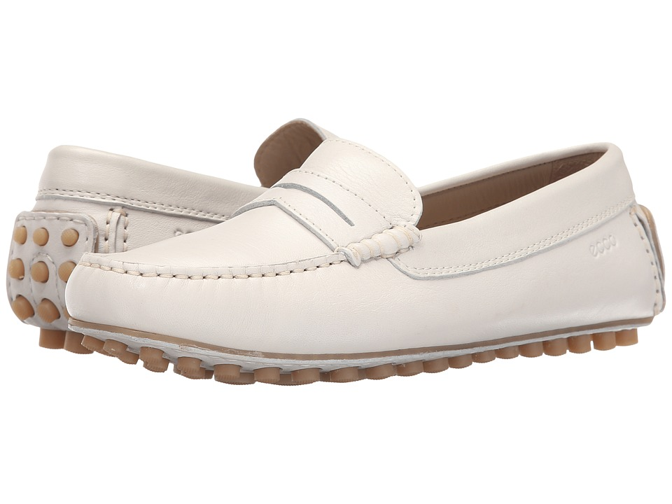 ECCO Dynamic Moccasin Penny Shadow White Womens Moccasin Shoes