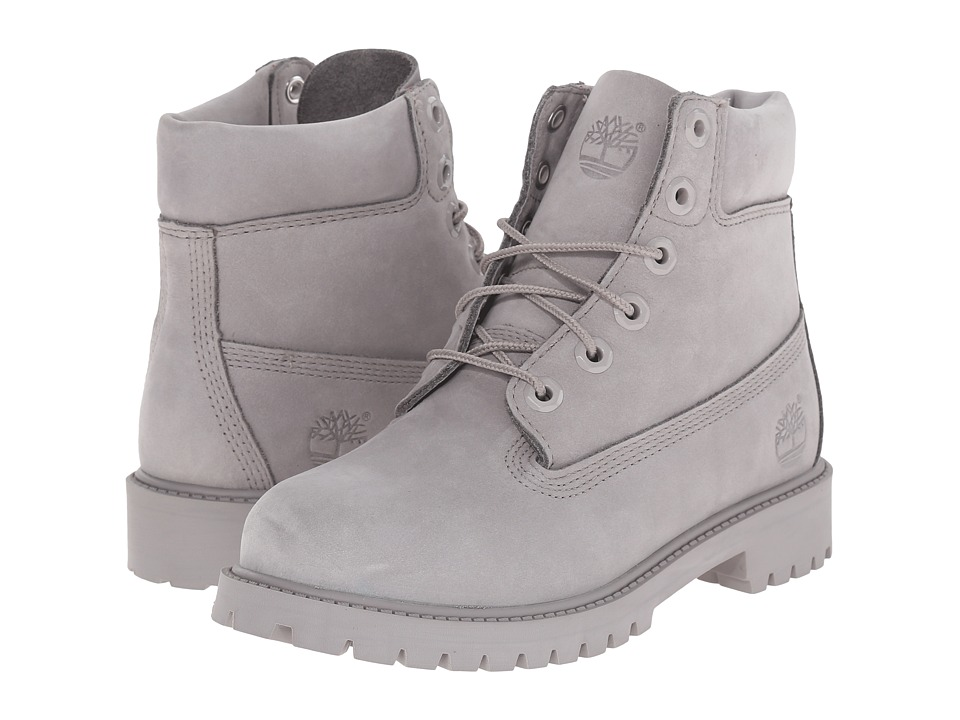 Timberland Kids 6 in Premium Waterproof Boot Big Kid Grey Monochromatic Kids Shoes
