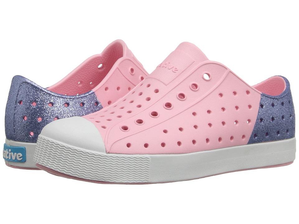 Native Kids Shoes Jefferson Little Kid Princess Pink/Jellyfish Purple Glitter Girls Shoes