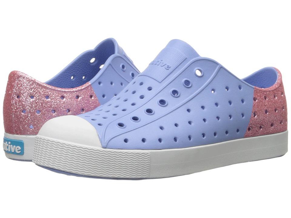 Native Kids Shoes Jefferson Little Kid Jellyfish Purple/Princess Pink Glitter Girls Shoes