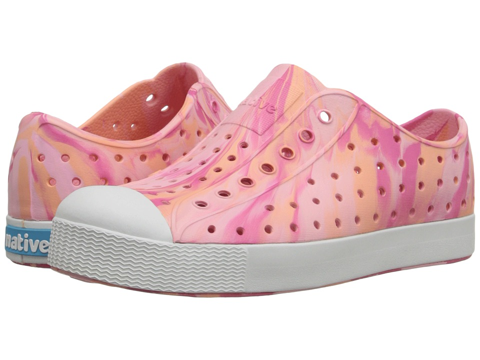 Native Kids Shoes Jefferson Little Kid Princess Pink Marbled Girls Shoes