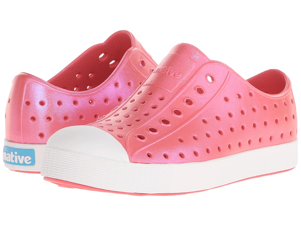 Native Kids Shoes Jefferson Little Kid Snapper Red Iridescent Girls Shoes
