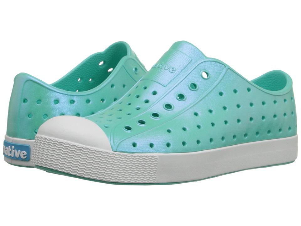Native Kids Shoes Jefferson Little Kid Atlantis Blue Iridescent Girls Shoes