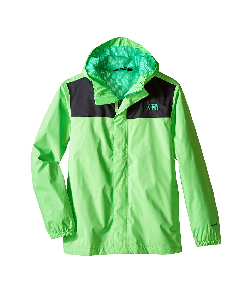 The North Face Kids - Zipline Rain Jacket (Little Kids/Big Kids) (Electric Mint Green) Boy