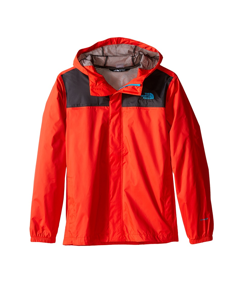 The North Face Kids Zipline Rain Jacket (Little Kids/Big Kids) (Fiery Red/Asphalt Grey) Boy
