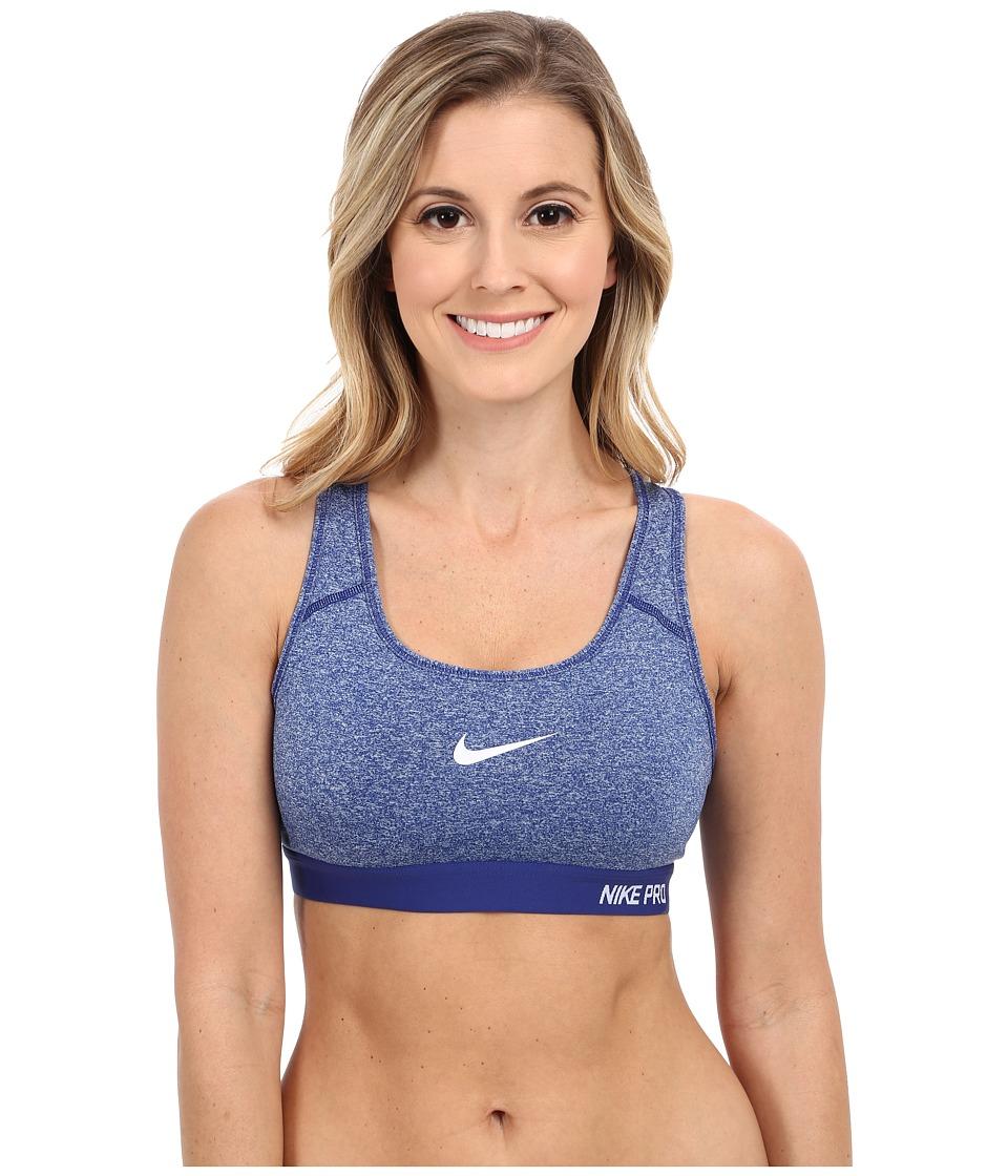 Nike Pro Classic Padded Bra Deep Royal Blue/Heather/Deep Royal Blue/White Womens Bra