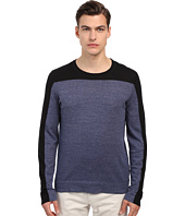 Vince - Sporty Jaspe Blocked Crew Neck Sweater