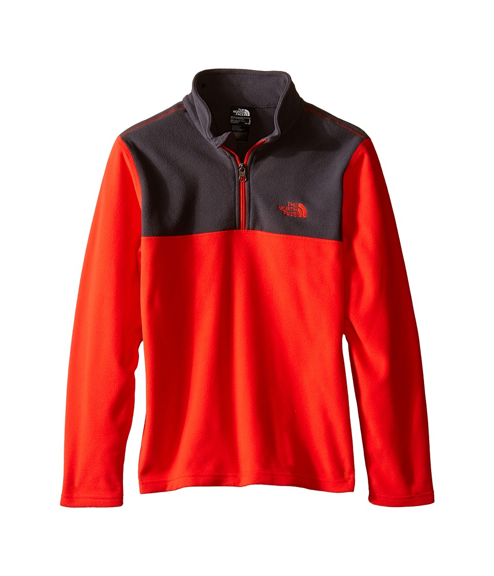 The North Face Kids Glacier 1/4 Zip Little Kids/Big Kids Fiery Red Boys Long Sleeve Pullover