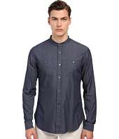 Vince - Long Sleeve Drop Hem Banded Shirt