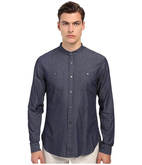 Vince Long Sleeve Drop Hem Banded Shirt