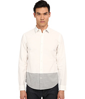 Vince - Long Sleeve Melange Blocked Shirt