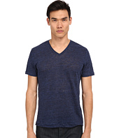 Vince - Short Sleeve Linen V-Neck T-Shirt