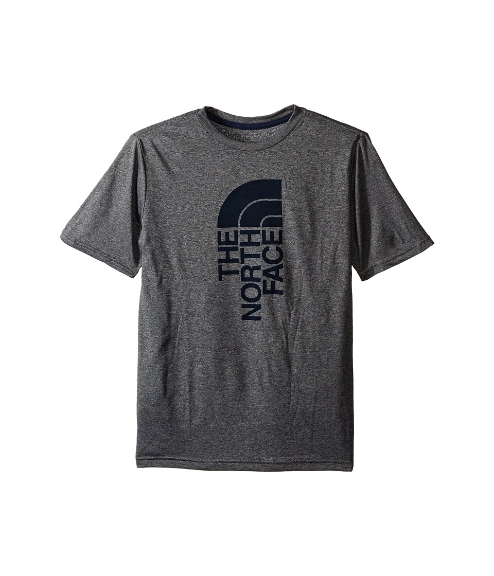 The North Face Kids Short Sleeve Reaxion Tee (Little Kids/Big Kids) (TNF Medium Grey Heather/Cosmic Blue) Boy