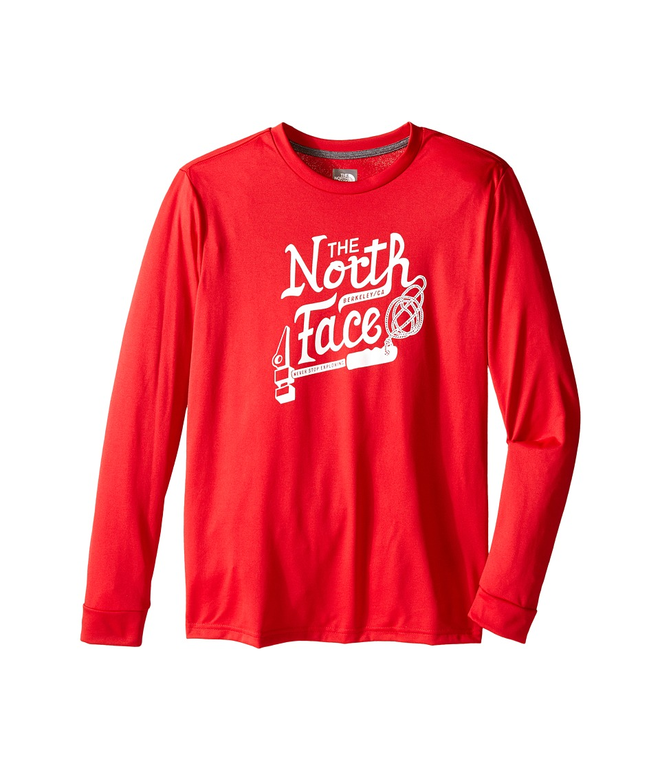 The North Face Kids Long Sleeve Reaxion Tee Little Kids/Big Kids TNF Red Boys Long Sleeve Pullover
