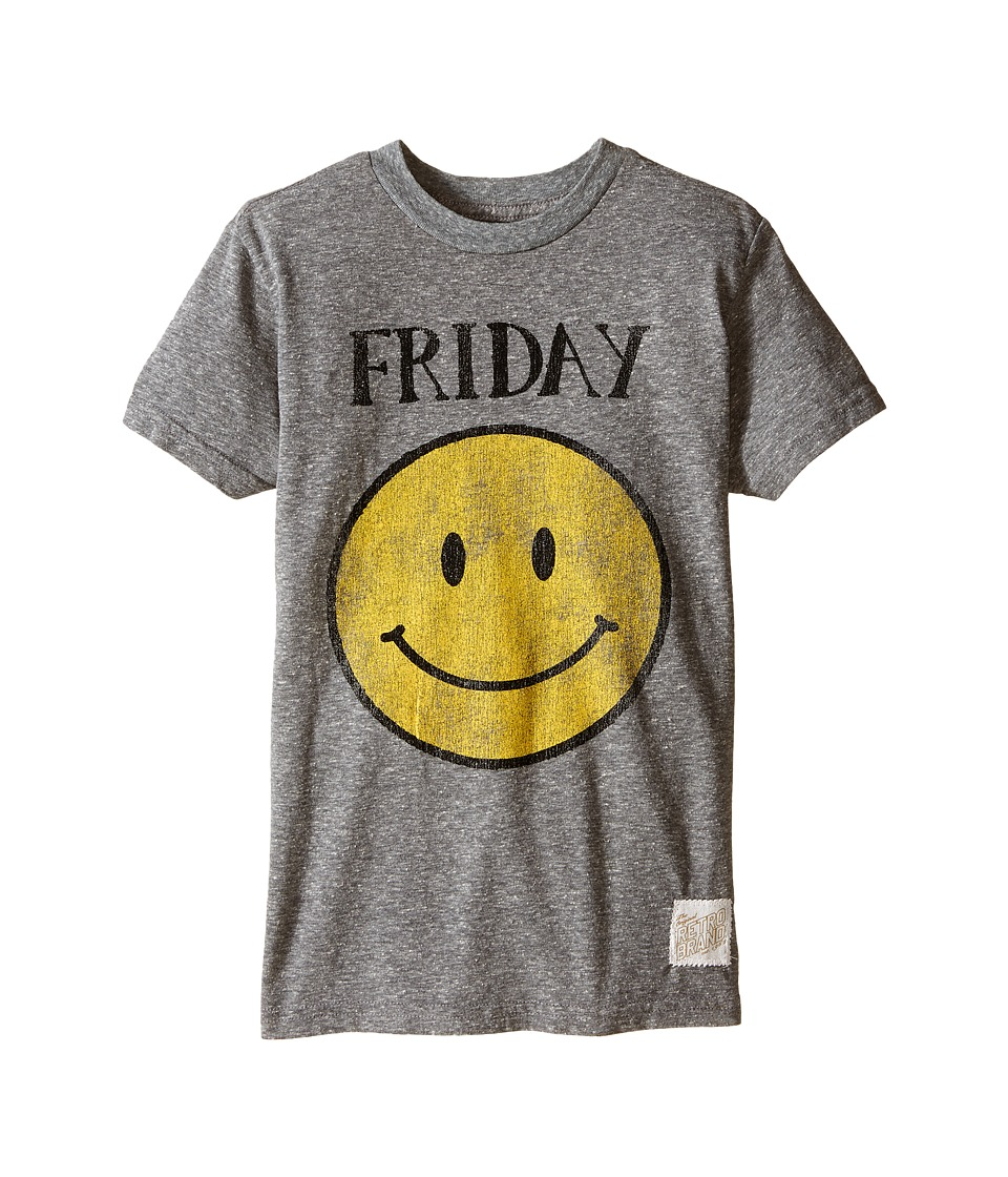 The Original Retro Brand Kids - Friday Short Sleeve Tee (Big Kids) (Streaky Grey) Boys T Shirt