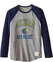 The Original Retro Brand Kids - Michigan Raglan Baseball Tee (Big Kids)