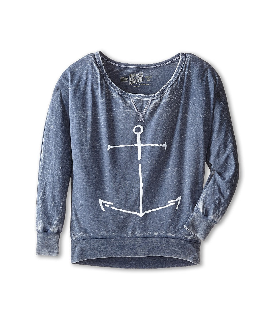 The Original Retro Brand Kids - Anchor Burnout Long Sleeve Tee