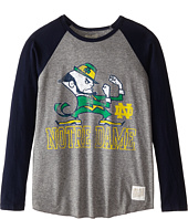 The Original Retro Brand Kids - Notre Dame Raglan Baseball Tee (Big Kids)